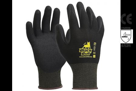 Gloves Black Bull Nitrile-Coated Work E450