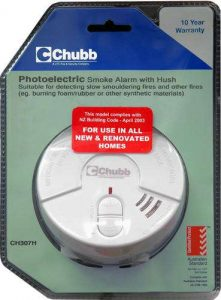 Chubb Photoelectric Smoke Alarm with Hush DISCONTINUED