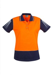 Polo Zone Ladies Day Only Orange/Navy