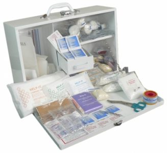 Industrial 1-50 First Aid Kit Metal, Wall Mountable