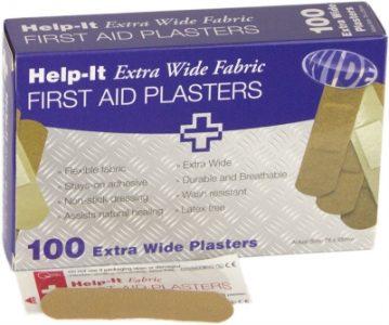 Plasters Extra Wide Box 100 PLAFAB100W