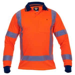 Polo TTMC Orange Microfibre Long Sleeve