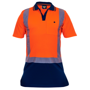 Polo Orange/Navy Day/Night Microfibre