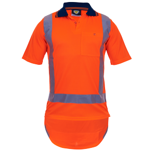 Polo TTMC Orange Short Sleeve Microfibre