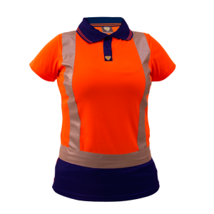 Polo D/N Womans Microfibre Orange/Navy