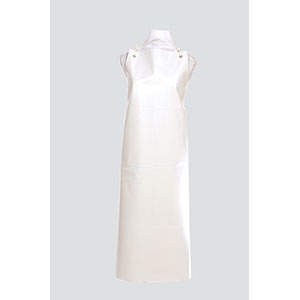 Apron PVC WHITE with Ties