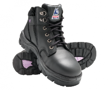 Boot Parkes Ladies Steel Blue Zip