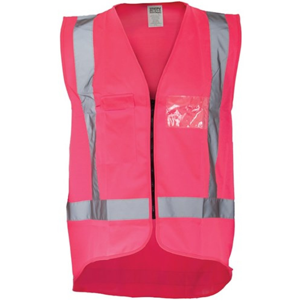 Ironwear Hi Vis Night Vest in Pink S to 10XL