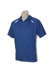 Mens Splice PoloWhite/Navy