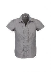Ladies Edge Short Sleeve ShirtBlue