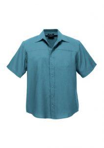 Mens Plain Oasis Short Sleeve ShirtWhite