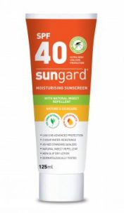Sunscreen SPF40 with natural insect repellent 125ml Tube