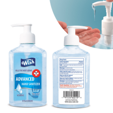 75% Alcohol Hand Sanitiser – 236ml Pump Bottles