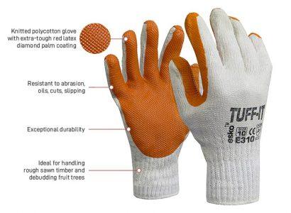 Tuff-it Glove -Tough Latex Palm Size