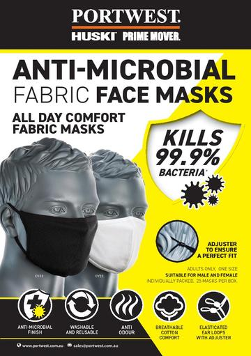 Double Layer Anti-Microbial Fabric Face Mask CH