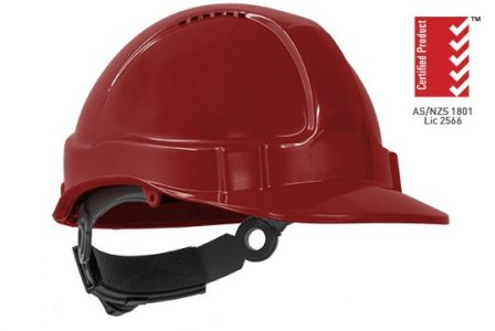 Hardhat RED Tuff-Nut Ratchet Helmet