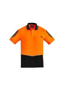 Flux Short Sleeve Polo Men's Hi Vis Syzmik