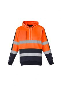 Unisex Hi Vis Stretch Taped HoodieYellow/NavyXXS