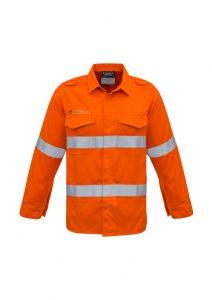 Mens FR Hooped Taped Shirt Orange